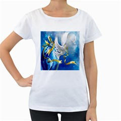Turtle Doves Christmas Women s Loose-Fit T-Shirt (White)