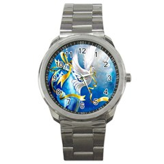 Turtle Doves Christmas Sport Metal Watch