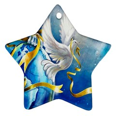 Turtle Doves Christmas Star Ornament (two Sides)