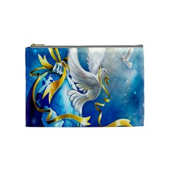 Turtle Doves Christmas Cosmetic Bag (Medium)
