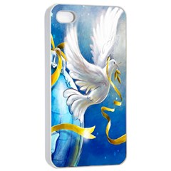Turtle Doves Christmas Apple iPhone 4/4s Seamless Case (White)