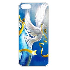Turtle Doves Christmas Apple iPhone 5 Seamless Case (White)