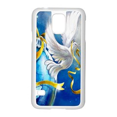 Turtle Doves Christmas Samsung Galaxy S5 Case (White)
