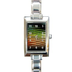 Triangle Patterns Rectangle Italian Charm Watch