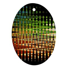 Triangle Patterns Ornament (Oval)