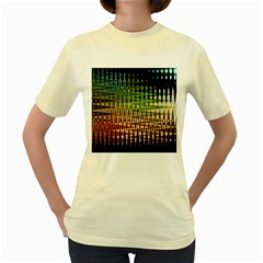 Triangle Patterns Women s Yellow T Shirt
