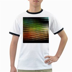 Triangle Patterns Ringer T-Shirts