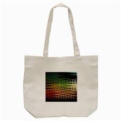Triangle Patterns Tote Bag (cream)