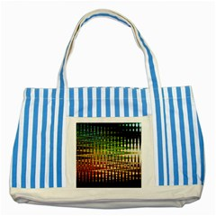Triangle Patterns Striped Blue Tote Bag