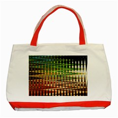 Triangle Patterns Classic Tote Bag (Red)