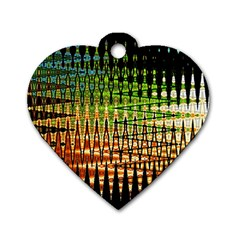 Triangle Patterns Dog Tag Heart (Two Sides)