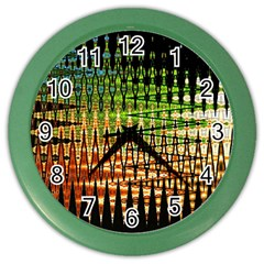 Triangle Patterns Color Wall Clocks