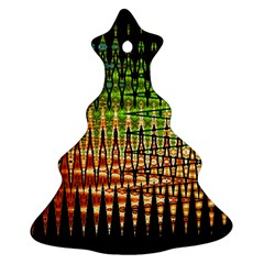 Triangle Patterns Christmas Tree Ornament (two Sides)