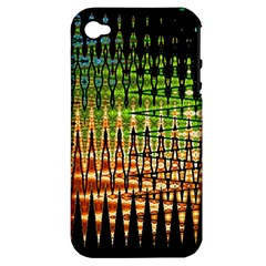 Triangle Patterns Apple iPhone 4/4S Hardshell Case (PC+Silicone)