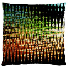 Triangle Patterns Large Flano Cushion Case (one Side)