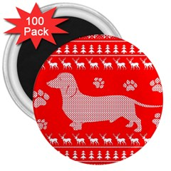 Ugly X Mas Design 3  Magnets (100 pack)