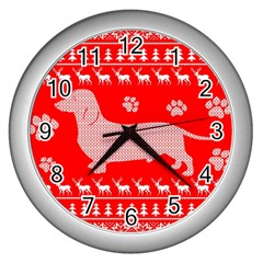 Ugly X Mas Design Wall Clocks (silver)