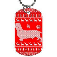 Ugly X Mas Design Dog Tag (One Side)