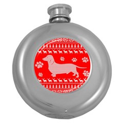 Ugly X Mas Design Round Hip Flask (5 Oz)
