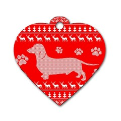 Ugly X Mas Design Dog Tag Heart (Two Sides)