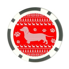 Ugly X Mas Design Poker Chip Card Guard