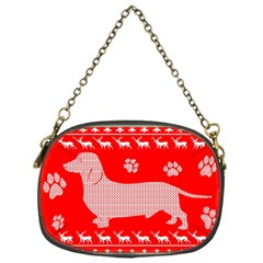 Ugly X Mas Design Chain Purses (one Side)