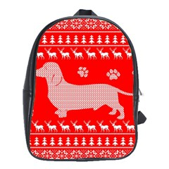 Ugly X Mas Design School Bags(Large)