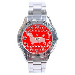 Ugly X Mas Design Stainless Steel Analogue Watch