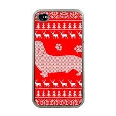 Ugly X Mas Design Apple iPhone 4 Case (Clear)