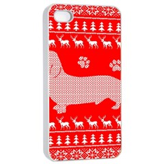 Ugly X Mas Design Apple iPhone 4/4s Seamless Case (White)