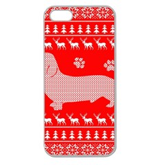 Ugly X Mas Design Apple Seamless iPhone 5 Case (Clear)