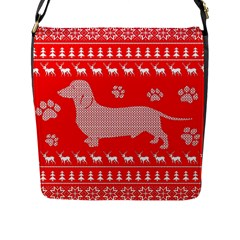 Ugly X Mas Design Flap Messenger Bag (L)