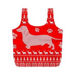 Ugly X Mas Design Full Print Recycle Bags (m)