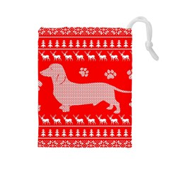Ugly X Mas Design Drawstring Pouches (large)