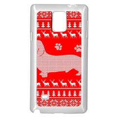 Ugly X Mas Design Samsung Galaxy Note 4 Case (White)