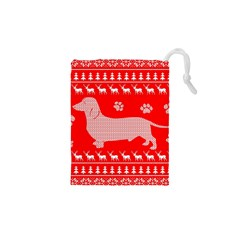 Ugly X Mas Design Drawstring Pouches (XS)