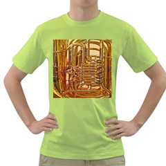 Tuba Valves Pipe Shiny Instrument Music Green T-Shirt