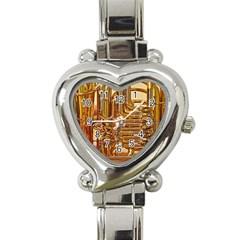 Tuba Valves Pipe Shiny Instrument Music Heart Italian Charm Watch