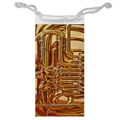 Tuba Valves Pipe Shiny Instrument Music Jewelry Bag