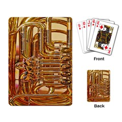 Tuba Valves Pipe Shiny Instrument Music Playing Card