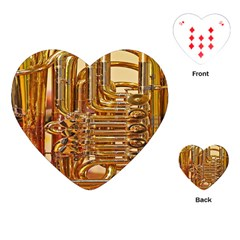 Tuba Valves Pipe Shiny Instrument Music Playing Cards (heart)