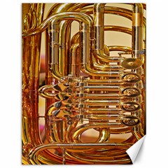 Tuba Valves Pipe Shiny Instrument Music Canvas 12  x 16