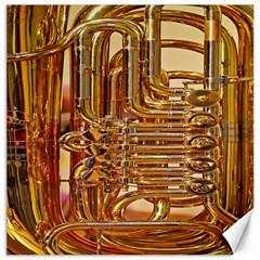 Tuba Valves Pipe Shiny Instrument Music Canvas 20  x 20