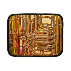 Tuba Valves Pipe Shiny Instrument Music Netbook Case (small)