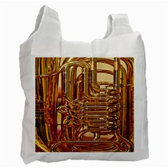 Tuba Valves Pipe Shiny Instrument Music Recycle Bag (One Side)