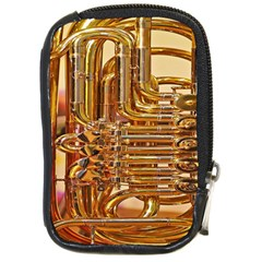 Tuba Valves Pipe Shiny Instrument Music Compact Camera Cases