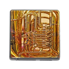 Tuba Valves Pipe Shiny Instrument Music Memory Card Reader (square)