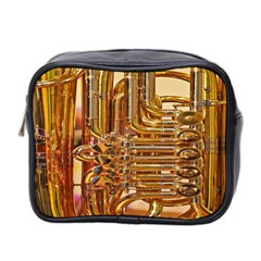 Tuba Valves Pipe Shiny Instrument Music Mini Toiletries Bag 2 Side