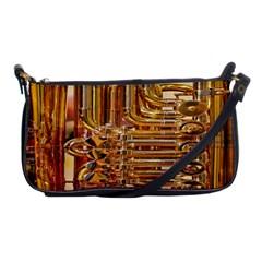 Tuba Valves Pipe Shiny Instrument Music Shoulder Clutch Bags