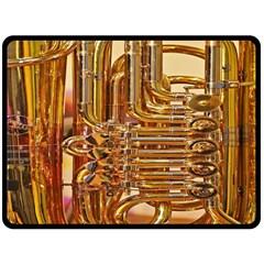 Tuba Valves Pipe Shiny Instrument Music Fleece Blanket (large)